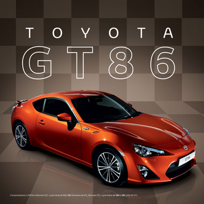 nouvelle toyota gt86. Black Bedroom Furniture Sets. Home Design Ideas